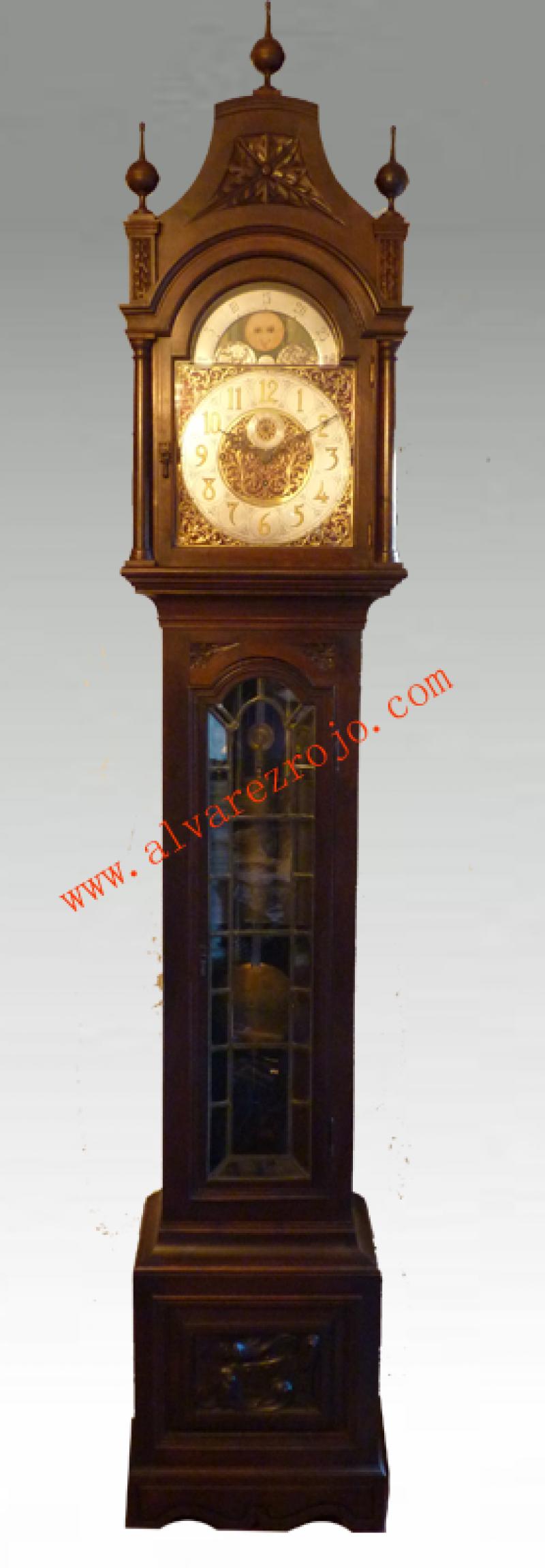Reloj de pie aleman carill n hwn en relojes de sal n - Reloj para salon ...